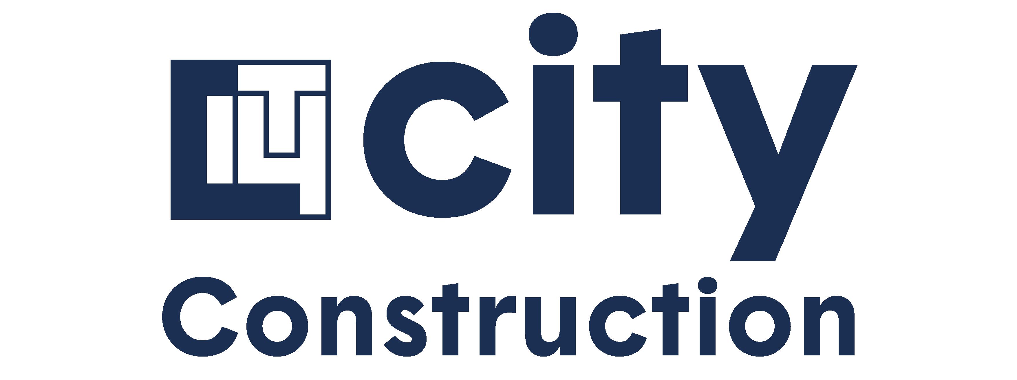 logo city construction bleu