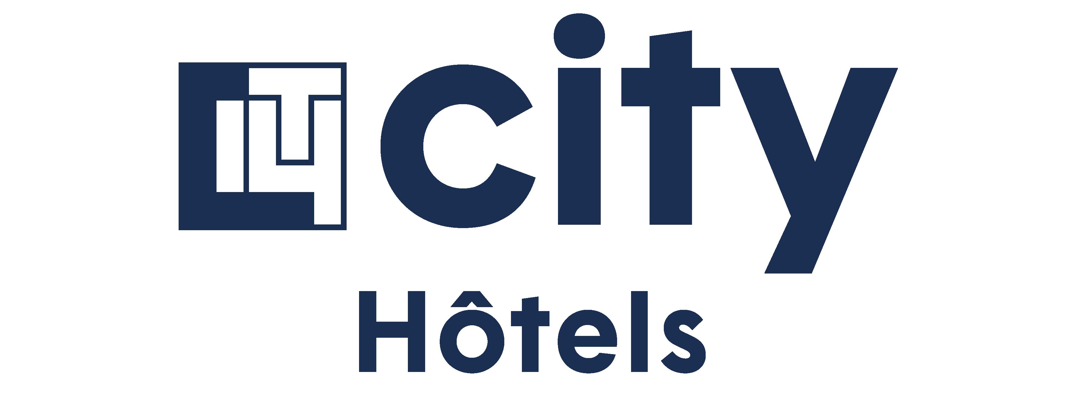 logo city hôtels bleu